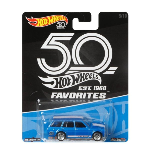 Carrinho Hot Wheels Favorites 50 Anos 71 Datsun Bluebird FLF36 Mattel