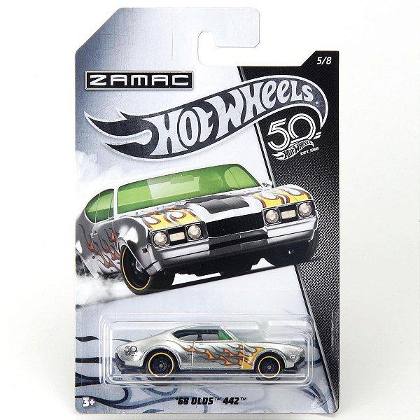 Carrinho Hot Wheels Zamac 68 Olds 442 FRN28 Mattel