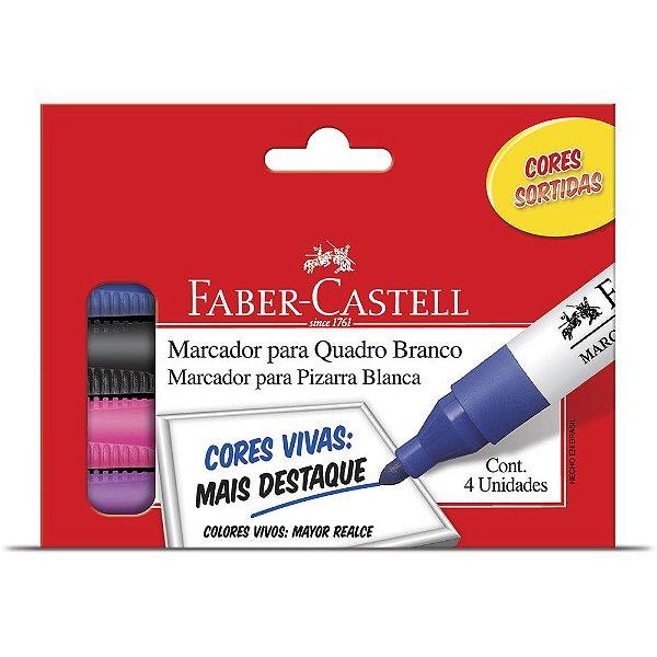 Marcadores de Quadro Branco Faber-Castell 4 Unidades