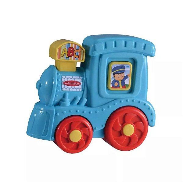 Bebê Musical Trem Azul Dican