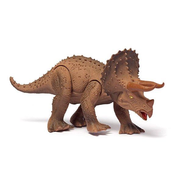 Dinossauro com Som Cotiplás Triceratops Dino World