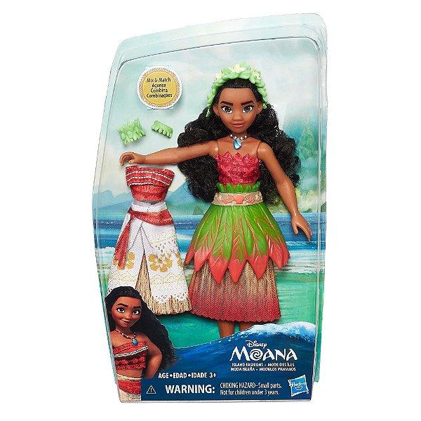 Boneca Moana Disney Modelos de Praia Hasbro