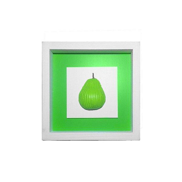 Quadrinho de Madeira Pera Verde 22cm