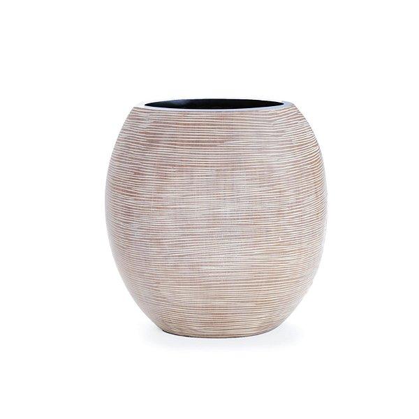 Vaso Decorativo Cromus Asteca Marrom 25cm