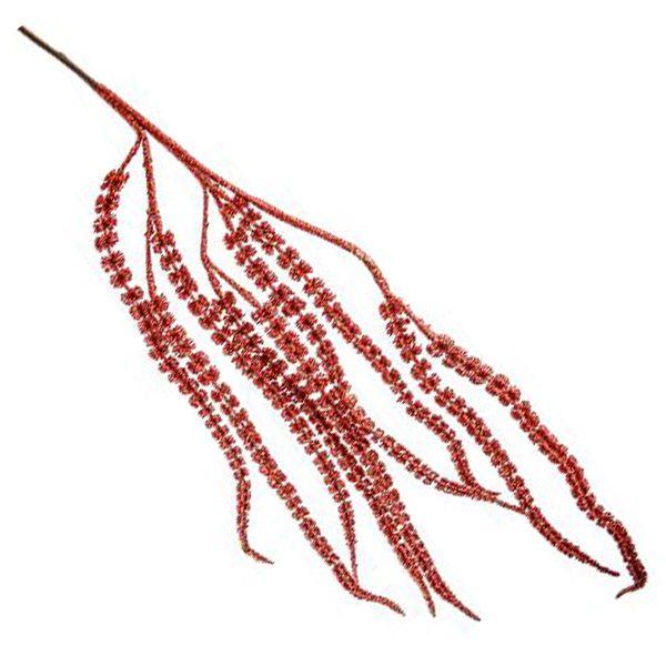 Galho de Natal Vermelho 80cm Tok da Casa 6 Peças