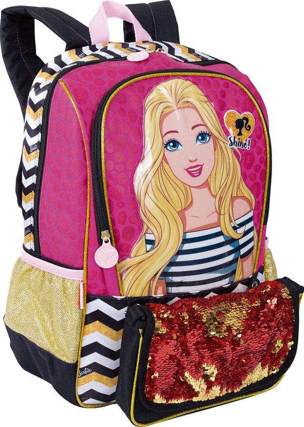 Mochila Barbie 19Z Grande com Bolsa Sestini