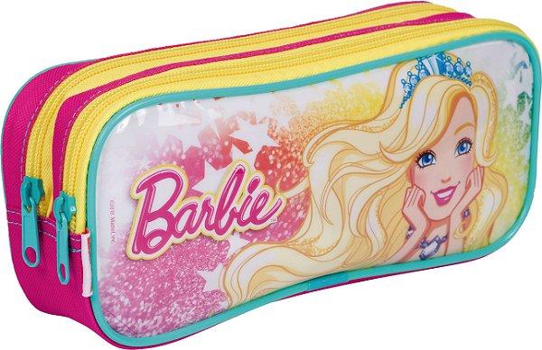 Estojo Barbie 19M Plus 2 Compartimentos Sestini