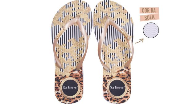 Chinelo Rafitthy Be Forever Baroque Stripes
