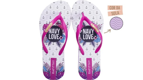 Chinelo Rafitthy Love Navy