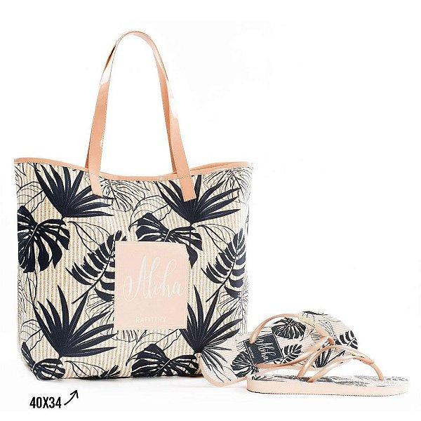 Kit Chinelo com Bolsa Rafitthy Aloha Palms Praia