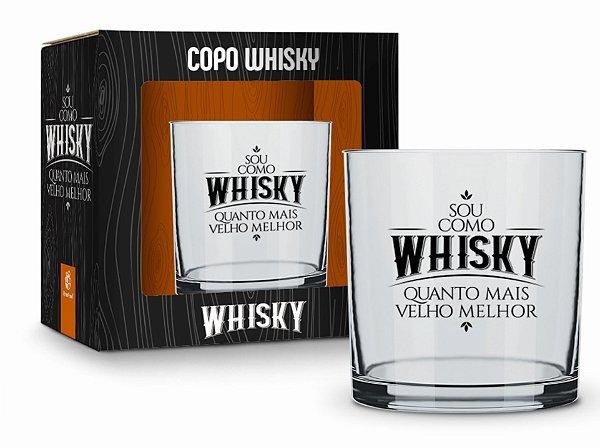 Copo Whisky Sou como Whisky Quanto mais Velho Melhor 320ml