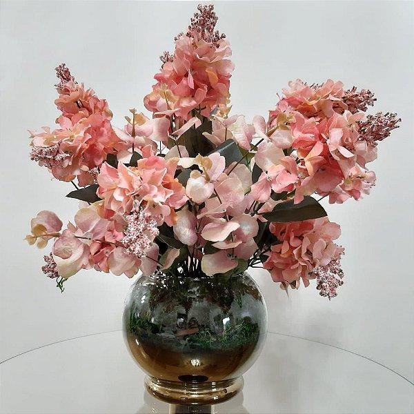 Arranjo de Flores Artificiais Eremurus Cor de Rosa