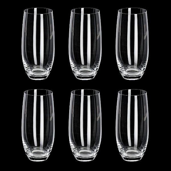 Jogo de Copos para Água Cristal Bohemia Pollo/Mergus 470ml 6 peças
