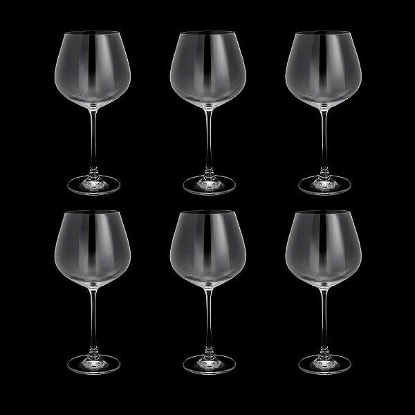 Jogo de Taças para Vinho Tinto Cristal Bohemia Columba 640ml 6 peças