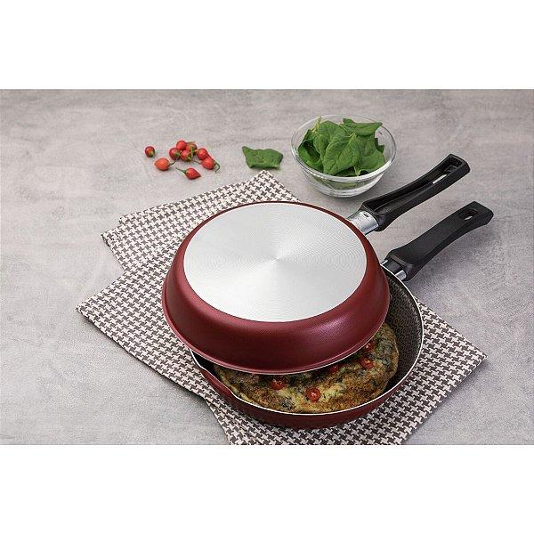 Omeleteira Tramontina Loreto Antiaderente Starflon Cereja 20cm