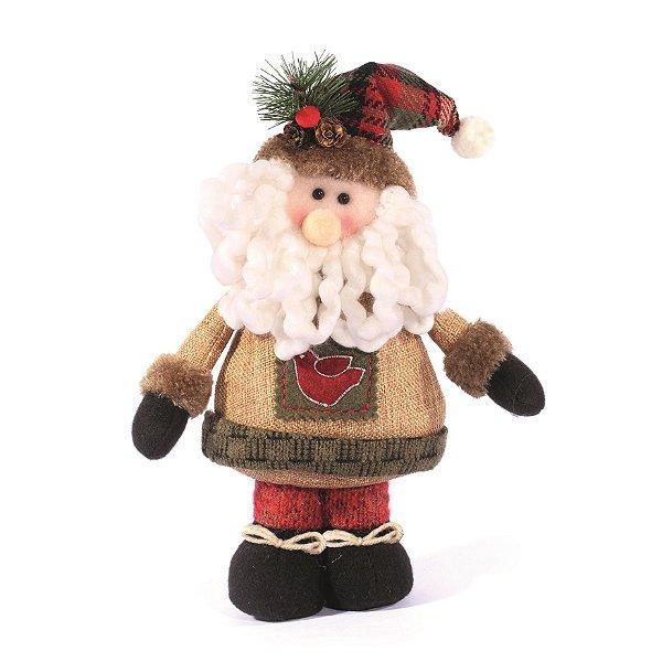 Papai Noel em Pe Cute 28cm