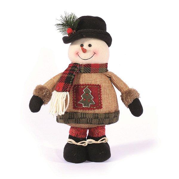 Boneco de Neve em Pe Cute 28cm