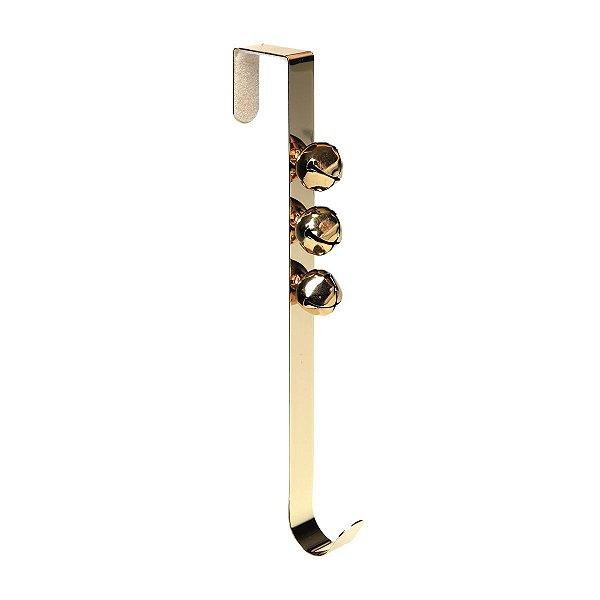 Suporte para Guirlanda Cromus Dourada Guizos 35 cm