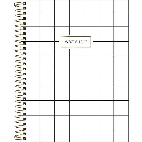 Caderno Colegial Tilibra West Village 2020 Branco Quadriculado 1 Matéria 80fls