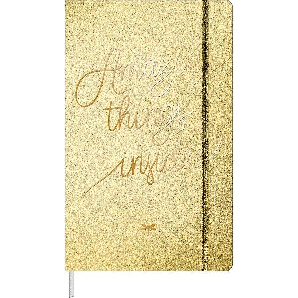 Caderno sem Pauta Shine Tilibra Dourado 80fls