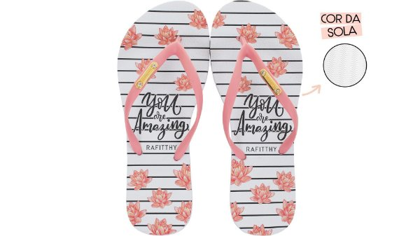 Chinelo Feminino Rafitthy You Are Amazing 222.01702A