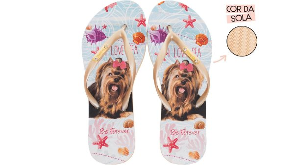 Chinelo Feminino Rafitthy YORK LOVE SEA 110.01702B