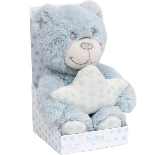 Ursinho de Pelúcia com Estrela Buba Star Azul