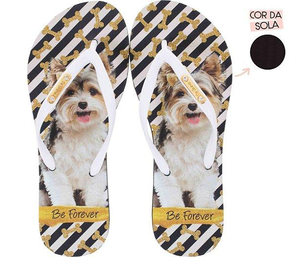 Chinelo Rafitthy Cachorrinho Dog Glitter