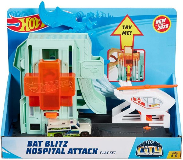 Pista Hot Wheels City Ataque de Morcegos no Hospital Mattel
