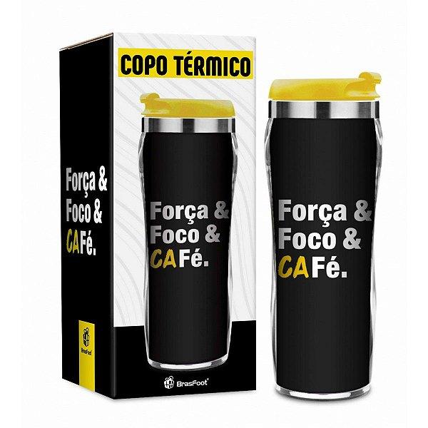 Copo Térmico Foco, Força e Café 450ml