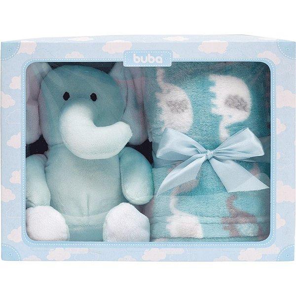 Kit para Bebê Manta com Elefantinho Azul Buba