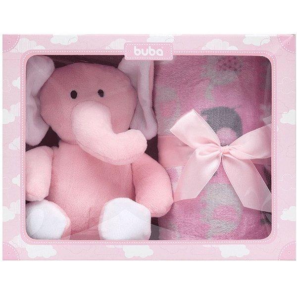 Kit para Bebê Manta com Elefantinho Rosa Buba
