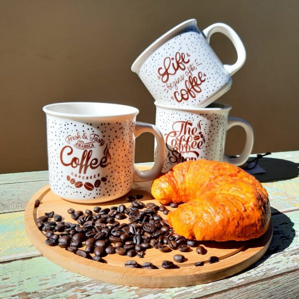 Caneca Coffee Vintage Pintadinha Vários Modelos 450ml