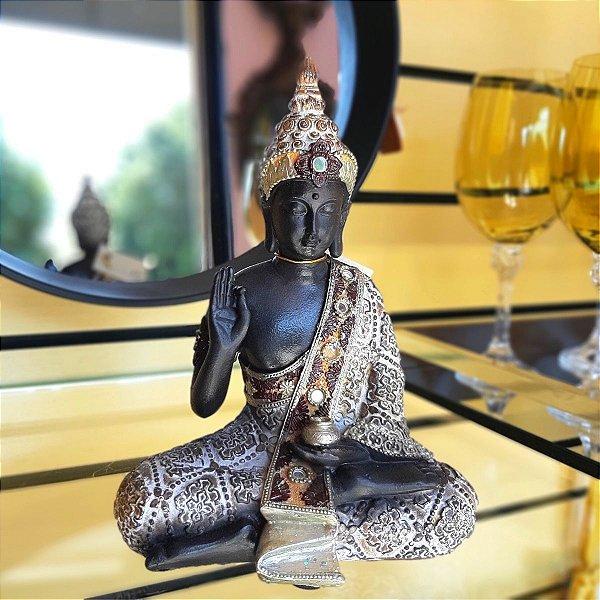 Peça Decorativa Buda Meditando 21cm