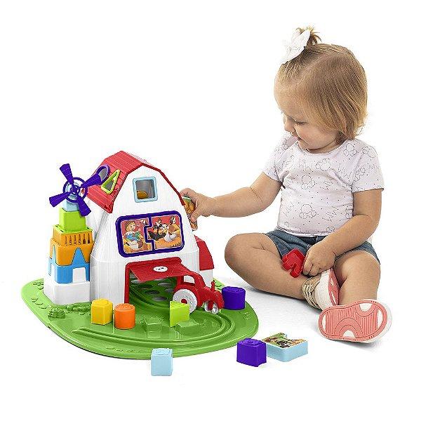 Brinquedo de Encaixe Fazendinha Tateti
