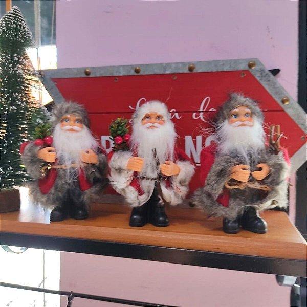 Enfeite para Árvore Kit Papai Noel Sortido 13cm 5 unidades