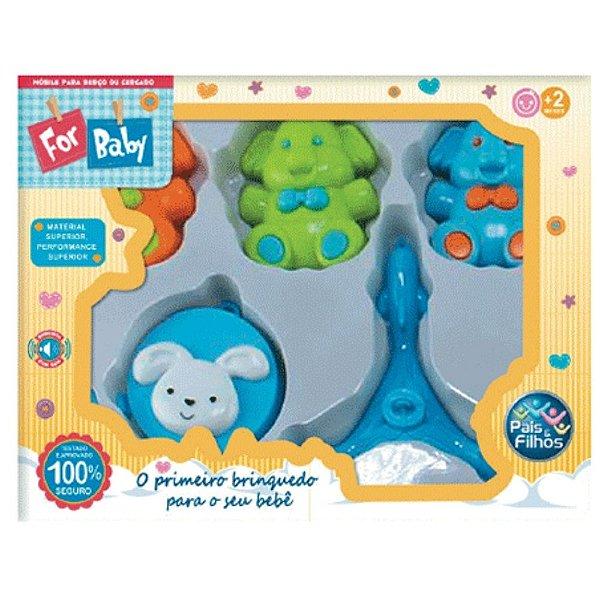 Móbile para Berço Pais e Filhos Elefantinho Azul