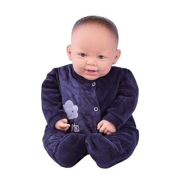Boneca Cotiplás Baby Nino's Reborn Menino Dentinho