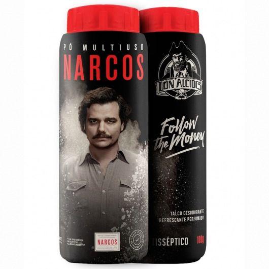 Pó Multiuso Narcos - Talco Antisséptico Refrescante Don Alcides - 100g