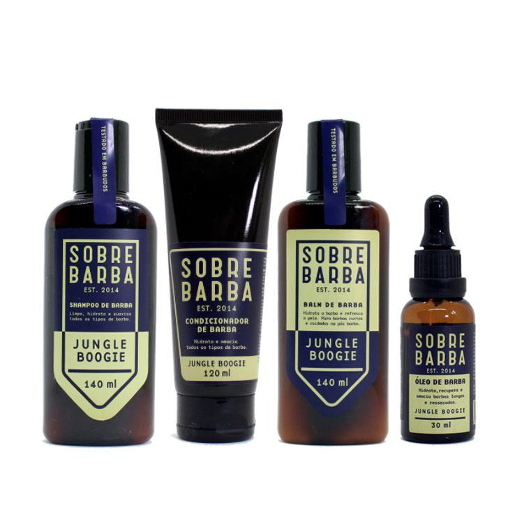Kit Shampoo, Condicionador, Balm e Óleo de Barba Sobrebarba Jungle Boogie