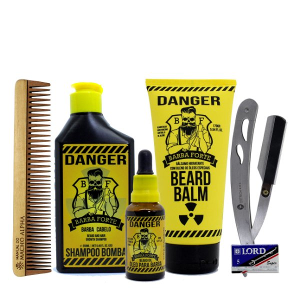 Kit Barba Forte Danger cuidado completo com a barba