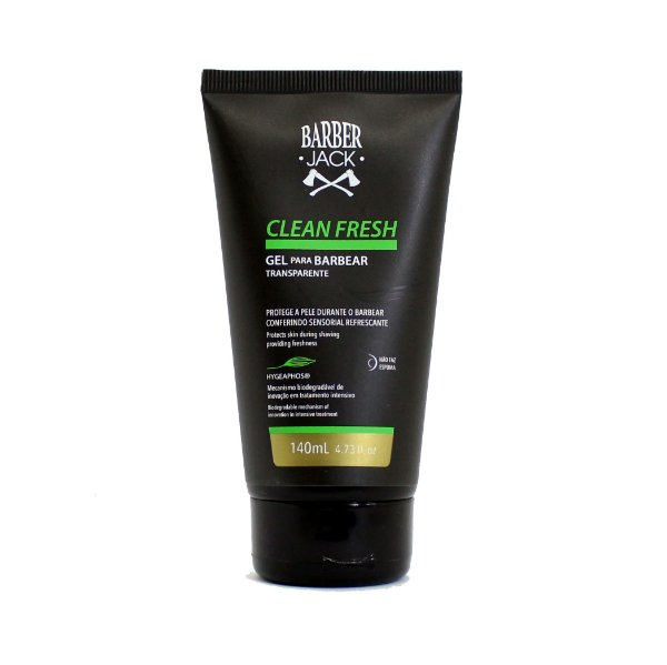 Gel de barbear transparence Barber Jack - Clean Fresh 140ml