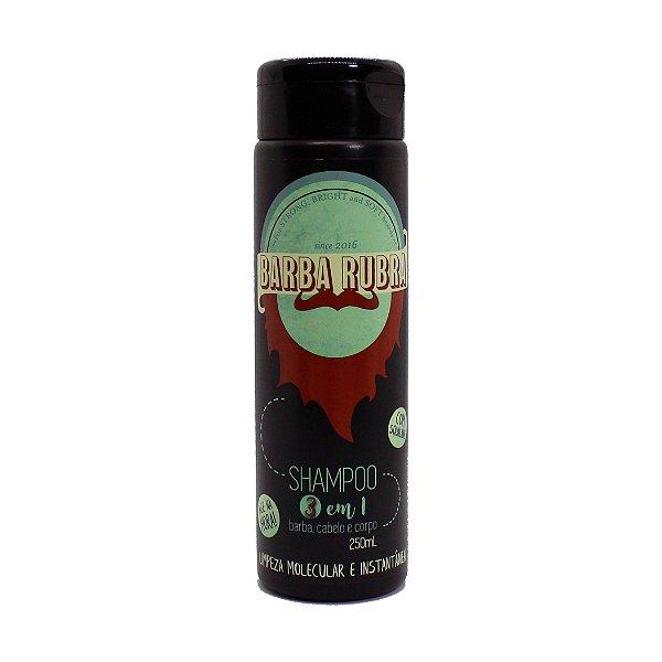 Shampoo 3 em 1 - Barba, Cabelo e Corpo - Barba Rubra 250ml