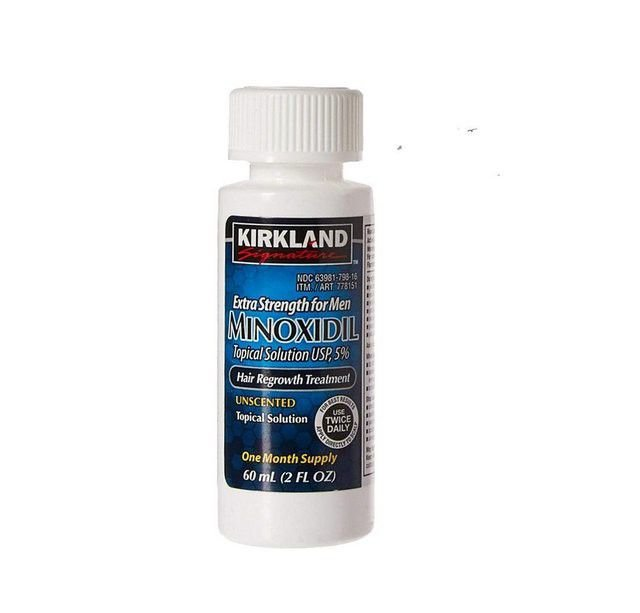 Minoxidil Kirkland 5% - 1 mes de tratamento - 1 frasco de 60ml