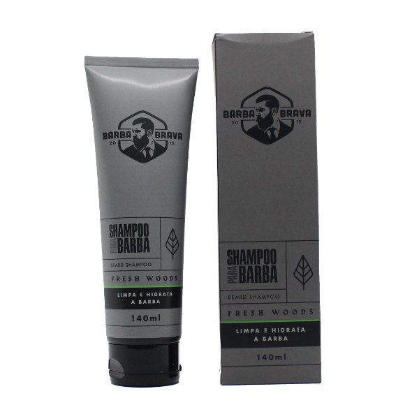 Shampoo para barba Fresh Woods Barba brava - 140ml