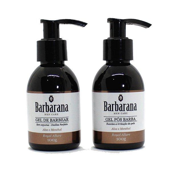 Kit Gel de barbear e Pós Barba Barbarana