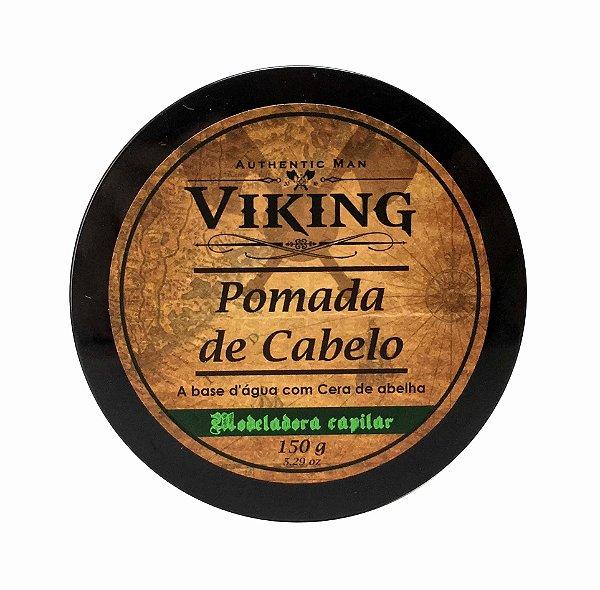 Pomada modeladora de cabelo Viking - Efeito Seco - 150g