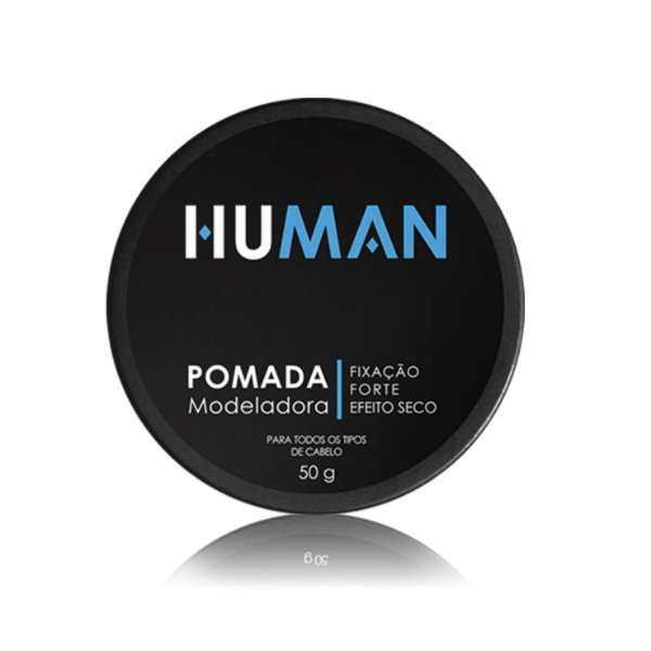 Pomada modeladora de cabelo Efeito Seco Fixação Extra Forte - Human - 50g