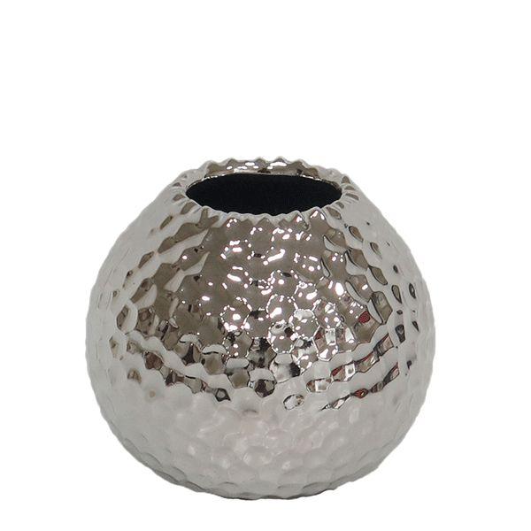 Cachepot de Cerâmica Prateado - 9x7 cm