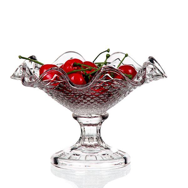 Taça de Sobremesa de Cristal - 19x13 cm